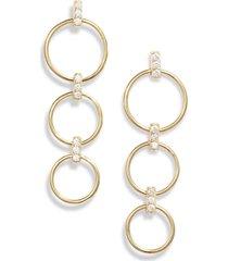 women's ela rae triple hoop drop earrings