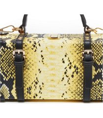 like dreams snakeskin treasure tote box bag