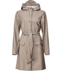 rains regenjas curve jacket taupe