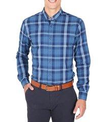camisa casual azul arrow