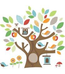adesivo de parede amigos da árvore skip hop marrom
