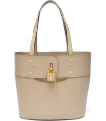 'aby' small lock tote bag