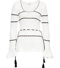 maglione a uncinetto (bianco) - bodyflirt boutique