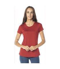 camiseta cora básico decote redondo modal feminina