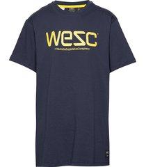 wesc t-shirt t-shirts short-sleeved blå wesc