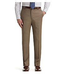 travel tech slim fit flat front dress pants - big & tall by jos. a. bank