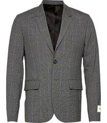 version wool check jacket blazer kavaj grå zadig & voltaire