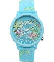 reloj azul-verde guess