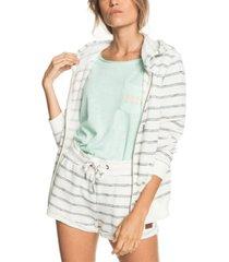 women's perfect wave stripes zip-up hoodie