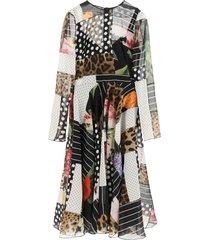 dolce & gabbana chiffon patchwork dress