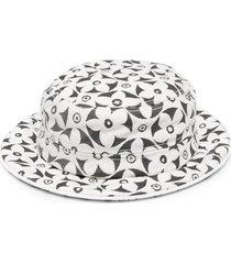 10 corso como floral-jacquard hat - white
