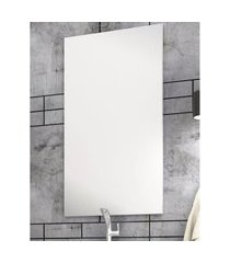 espelheira banheiro 50 cm painel mdf branco lilies móveis
