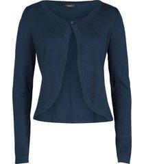 bolero in maglia (blu) - bpc bonprix collection