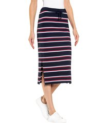 kjol alba moda marinblå::offwhite::röd