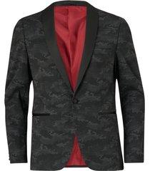 kavaj knitted camo tuxedo blazer
