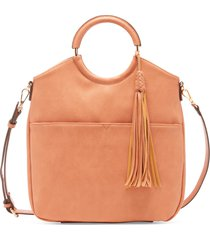 women's asmin bangle bracelet satchel vegan leather satchel in color: canyon bag from sole society