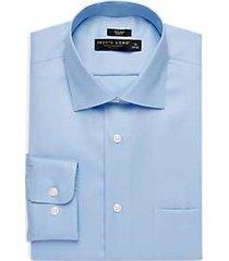 pronto uomo light blue slim fit queen's oxford dress shirt