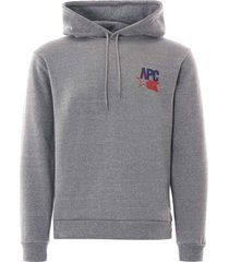 a.p.c bernado usa hoodie | grey | h27584-pla