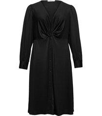 calado knälång klänning svart violeta by mango