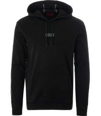 hugo dercolando hoodie - black 50410571