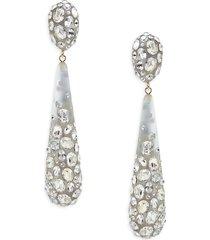 alexis bittar women's 10k goldplated, lucite & crystal drop earrings