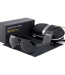 gafas lentes sol uv400 polarizados hdcrafter abs negro