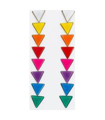 maxi brinco com triângulos arco íris | accessories | multicores | u