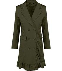 blazer dress button army