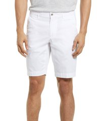 brax bristol flat front chino shorts, size 56 in white at nordstrom