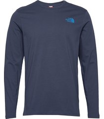 m l/s nf tee t-shirts long-sleeved blå the north face