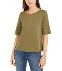 eileen fisher elbow-sleeve top