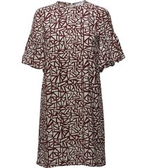 2nd milly print jurk knielengte bruin 2ndday