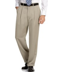 perry ellis portfolio big and tall double pleat melange microfiber dress pants