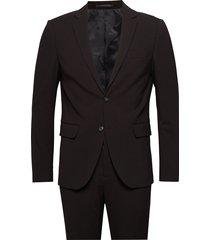 plain mens suit pak zwart lindbergh
