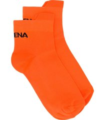 ssheena logo ankle socks - orange