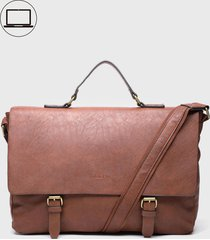 maletin porta notebook hemingway marrón rocha