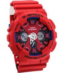 reloj g shock ga_120tr_4ad rojo resina