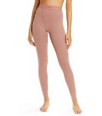 women's skims cotton rib thermal leggings, size 2 x - pink