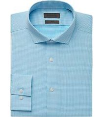 calvin klein turquoise check dress shirt