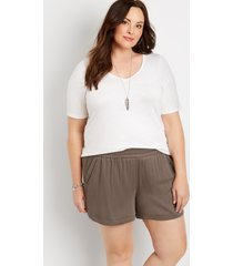 maurices plus size womens gray 5in dolphin shorts