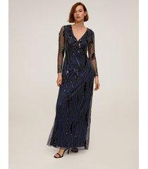 lange jurk met pailletten