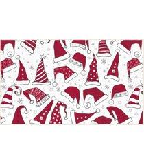 "santa hats accent rug, 24"" x 40"" bedding"