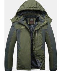 uomo 7xl giacca a vento pesante idrorepellente con cappuccio da outdoor s