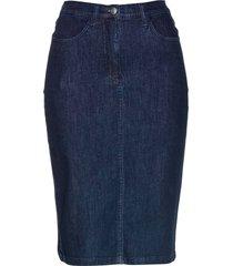 gonna di jeans superstretch modellante (blu) - bpc selection premium