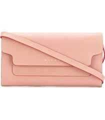 marni bellows crossbody wallet - pink