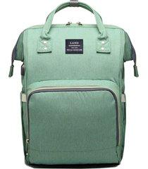 bolsa/mochila maternidade land com usb e impermeável verde