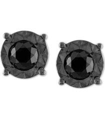 black diamond (1/2 ct. t.w.) stud earrings in sterling silver