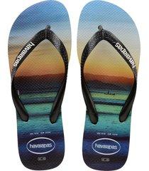 men's havaianas 'hype' flip flop, size 13 m - black