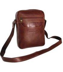 bolsa carteiro masculina em couro 8861 se