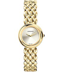 stainless steel & mother-of-pearl bracelet watch